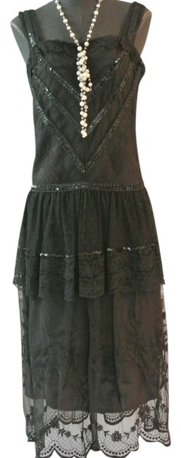 Preload https://item1.tradesy.com/images/black-vintage-sue-wong-flapper-style-mid-length-cocktail-dress-size-6-s-22184820-0-1.jpg?width=400&height=650