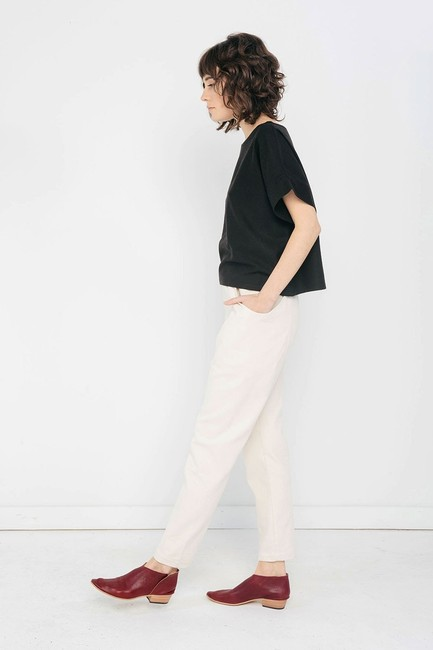 Elizabeth Suzann Made In Usa Clyde Moon Pockets Clyde Trouser Pants White Image 2