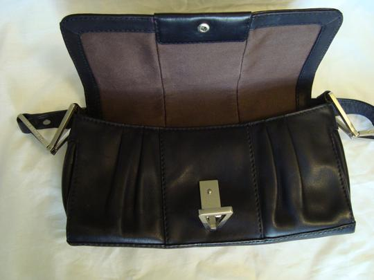 Calvin Klein Leather Geometric Silver Buckle Shoulder Bag Image 8