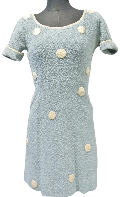 Kimberly short dress Pale Blue Vintage Wool on Tradesy