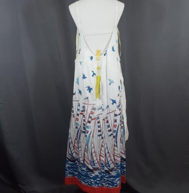 WHITE/BLUE/RED Maxi Dress by Catherine Malandrino Holiday Date Night Night Out Party