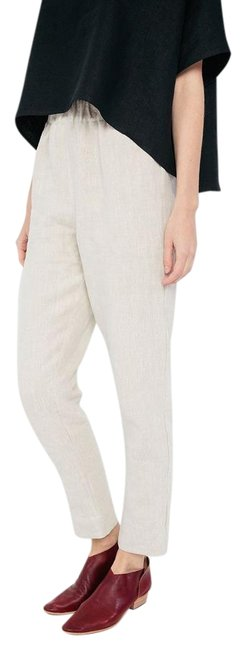 Elizabeth Suzann Made In Usa Linen Linen Tilda Trouser Pants Beige Image 0