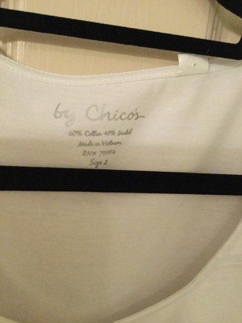 Chico's Cotton Sequined Top White