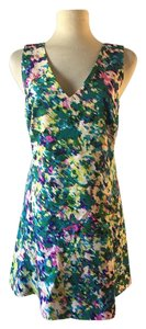 Tracy Reese short dress Green Floral Mini A Line on Tradesy