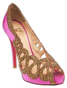 Christian Louboutin Beaute Strass Satin Heel Pumps