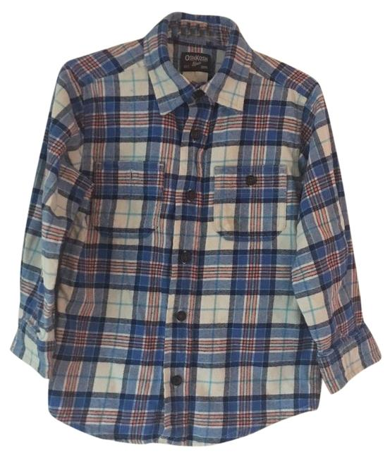 Preload https://img-static.tradesy.com/item/22185314/oshkosh-b-gosh-multi-color-flannel-shirt-excellent-condition-button-down-top-size-4-s-0-1-650-650.jpg