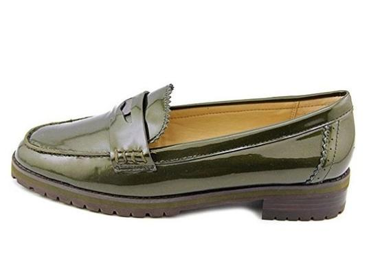Coach Loafer Patent Leather Metallic green Flats