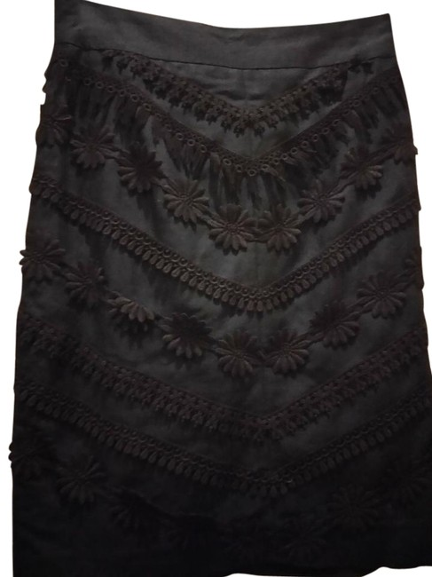 Preload https://img-static.tradesy.com/item/22185375/mondi-black-made-in-germany-with-lace-trim-knee-length-skirt-size-8-m-29-30-0-1-650-650.jpg