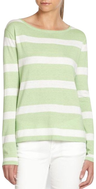 Preload https://img-static.tradesy.com/item/22185458/joie-kelia-stripe-tee-green-white-long-sleeve-sweaterpullover-size-8-m-0-3-650-650.jpg