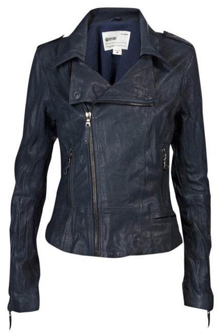 Preload https://item5.tradesy.com/images/blue-sz-m-with-zip-cuffs-dual-front-zip-leather-jacket-size-8-m-22185484-0-2.jpg?width=400&height=650