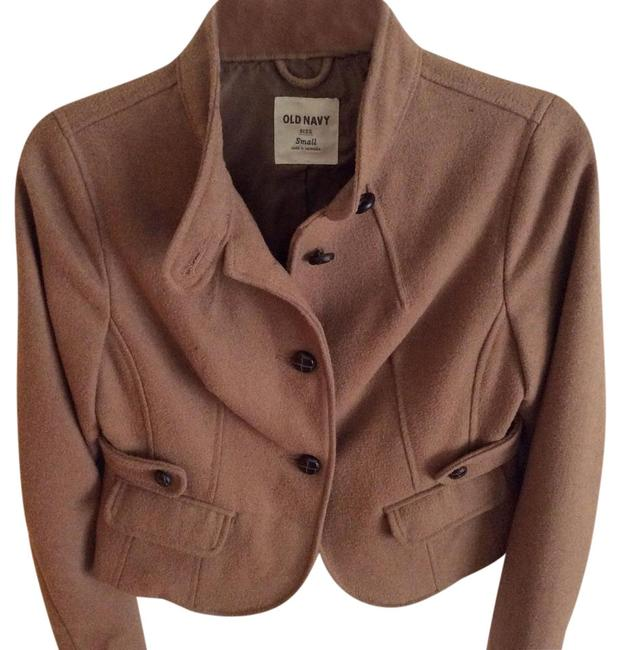 Preload https://item4.tradesy.com/images/old-navy-tan-waist-length-wool-jacket-blazer-size-4-s-22185538-0-1.jpg?width=400&height=650