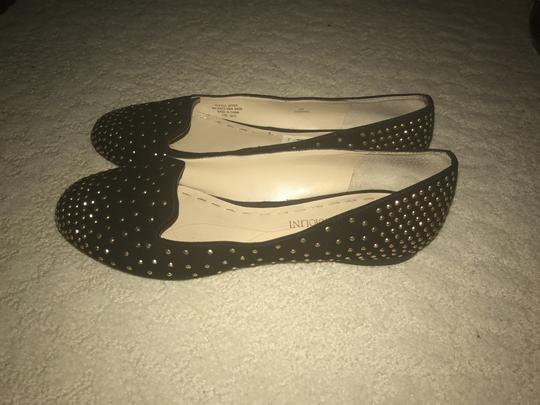 Enzo Angiolini Studded Black with gold studs Flats