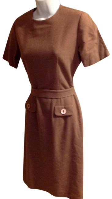 Preload https://item1.tradesy.com/images/brown-vintage-mid-length-short-casual-dress-size-6-s-22185605-0-1.jpg?width=400&height=650