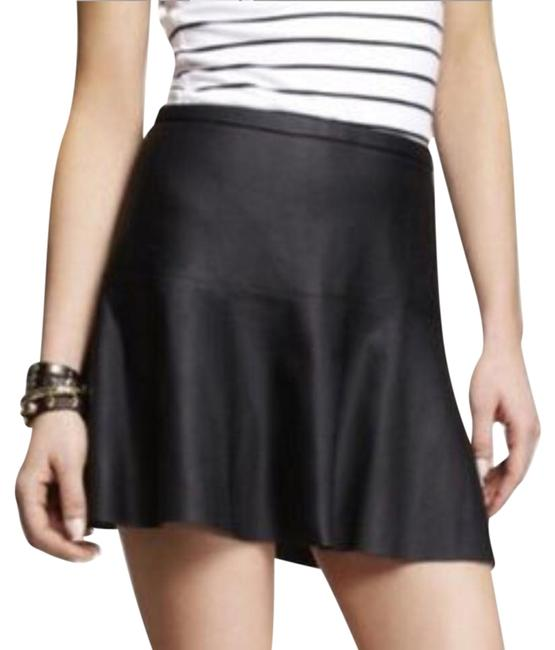 Preload https://item2.tradesy.com/images/express-black-fit-and-flare-pleather-miniskirt-size-2-xs-26-22185686-0-1.jpg?width=400&height=650