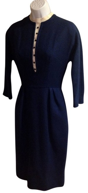 mamselle short dress navy/beige on Tradesy