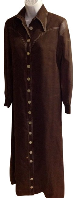 Preload https://item3.tradesy.com/images/brown-vintage-long-casual-maxi-dress-size-8-m-22185987-0-1.jpg?width=400&height=650