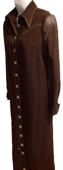 brown Maxi Dress by mamselle