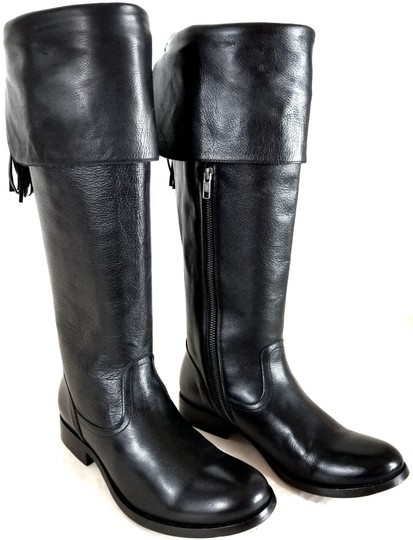 Frye Tall Leather Lining Leather Upper Made In Mexico Style 74155 Black Boots