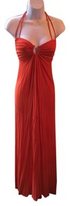 Orange Maxi Dress by Michelle Jonas Adjustable Ties Open Back