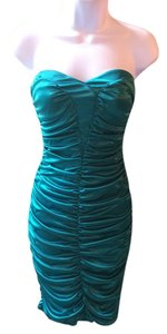 Ruby Rox Silk Strapless Bodycon Fitted Dress