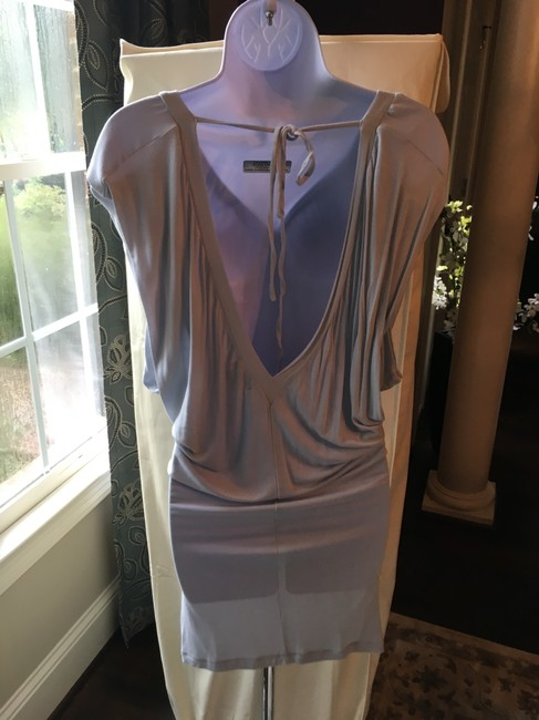 A X Armani Exchange short dress Grey Open Back Fitted on Tradesy