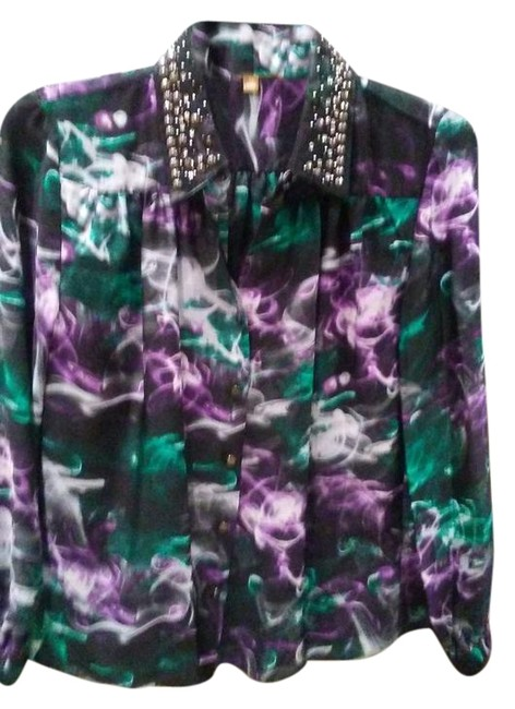 Preload https://img-static.tradesy.com/item/22186277/ellen-tracy-purple-white-green-blouse-size-10-m-0-1-650-650.jpg