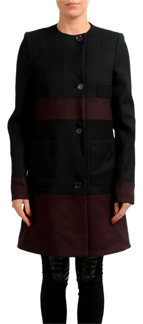 Preload https://item3.tradesy.com/images/just-cavalli-black-wine-red-women-s-two-tone-wool-button-down-size-4-s-22186432-0-1.jpg?width=400&height=650