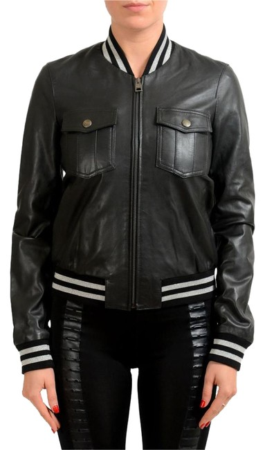 Preload https://img-static.tradesy.com/item/22186475/just-cavalli-black-women-s-leather-bomber-size-4-s-0-1-650-650.jpg
