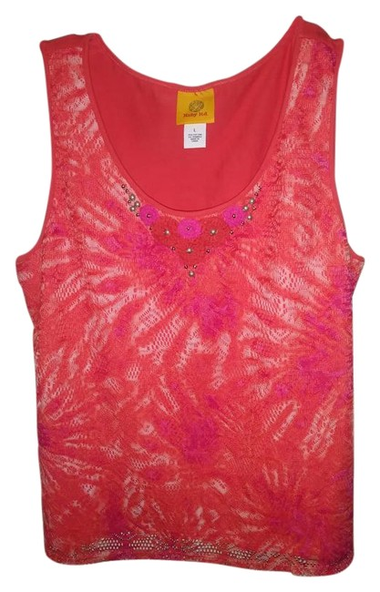 Preload https://img-static.tradesy.com/item/22186480/coral-blend-sleeveless-wbeading-on-front-tank-topcami-size-12-l-0-1-650-650.jpg