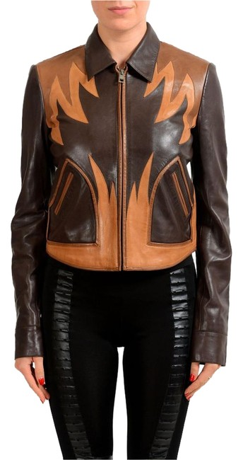 Preload https://img-static.tradesy.com/item/22186483/just-cavalli-brown-women-s-leather-bomber-size-4-s-0-1-650-650.jpg