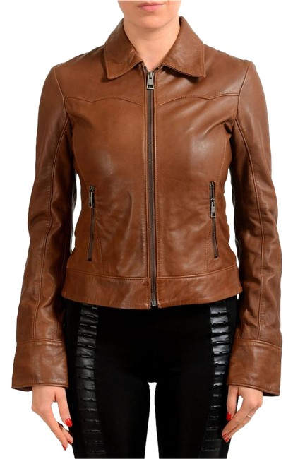 Preload https://item3.tradesy.com/images/just-cavalli-brown-women-s-leather-bomber-size-4-s-22186487-0-1.jpg?width=400&height=650
