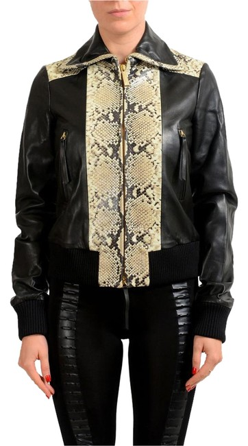 Preload https://img-static.tradesy.com/item/22186508/just-cavalli-black-multi-color-women-s-snake-skin-print-full-zip-leather-size-4-s-0-1-650-650.jpg