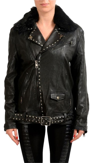 Preload https://item5.tradesy.com/images/just-cavalli-black-women-s-leather-with-detachable-lamb-fur-collar-size-4-s-22186519-0-1.jpg?width=400&height=650