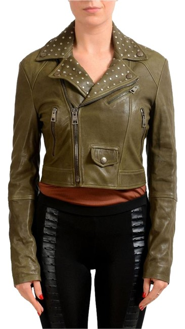 Preload https://item2.tradesy.com/images/just-cavalli-olive-green-women-s-full-zip-leather-size-4-s-22186521-0-1.jpg?width=400&height=650