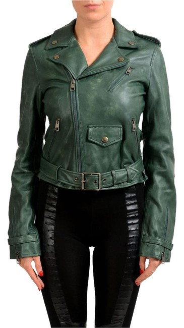 Preload https://img-static.tradesy.com/item/22186525/just-cavalli-forest-green-women-s-distressed-full-zip-leather-size-4-s-0-1-650-650.jpg