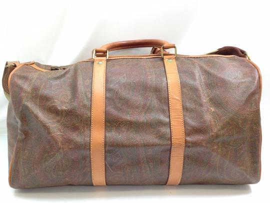 Etro Duffle Keepall Bandouliere Duffle With Strap BROWN Travel Bag
