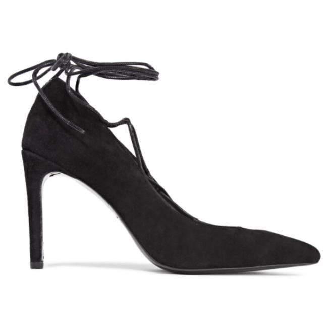 Maje Black Lace Up Pumps Size US 7.5 Regular (M, B) Maje Black Lace Up Pumps Size US 7.5 Regular (M, B) Image 1
