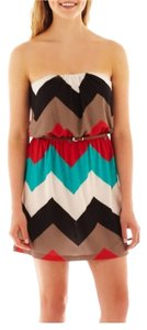 Trixxi short dress Teal on Tradesy