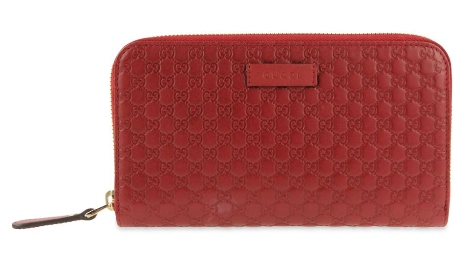 fd1e8209b572 Gucci Red Zip Around Continental Wallet - Tradesy