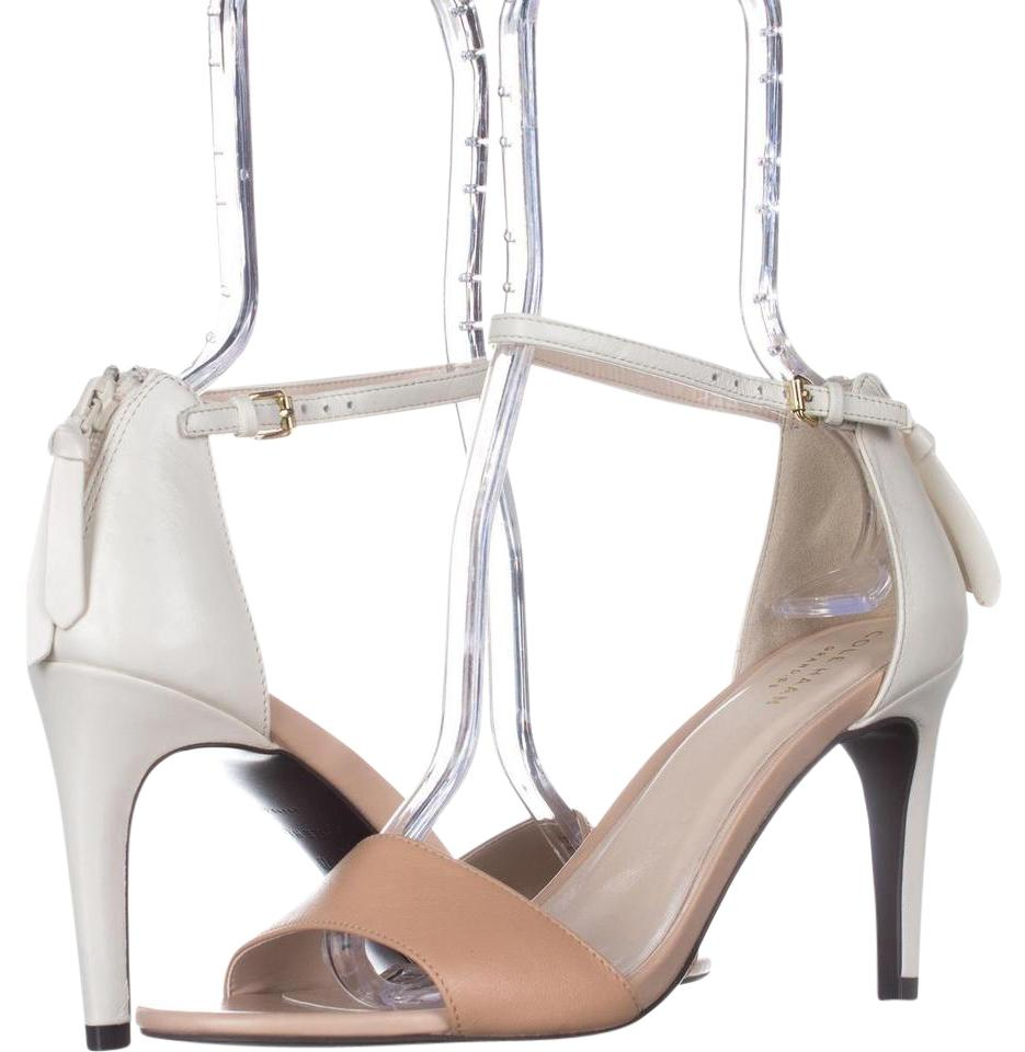 Cole Haan Beige Clara Nude/Ivory Grand Ankle-strap Dress Sandals Nude/Ivory Clara Leather Pumps 15f163