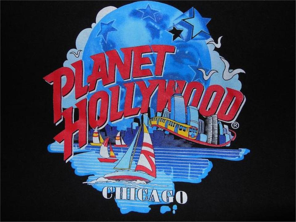 Vintage chicago size xl color t shirt black on tradesy for Planet hollywood t shirt