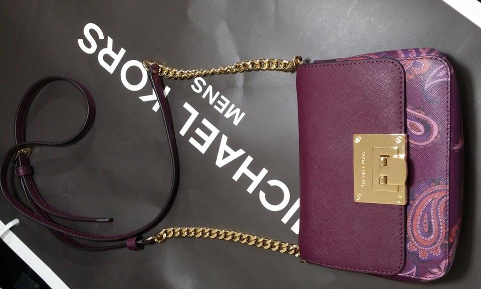 f49288d0455c Michael Kors Tina Vs Sloan Xsmall Chain Heritage Multicolor Leather ...