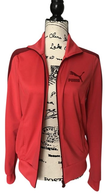 Item - Coral/Maroon Track Activewear Outerwear Size 8 (M, 29, 30)