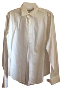 Brooks Brothers Button Down Shirt White with cuffs for cuff links