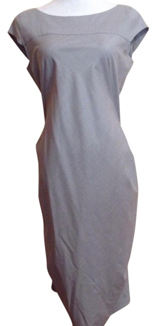 Item - Grey Rouched Back Mid-length Work/Office Dress Size 8 (M)