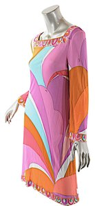 Emilio Pucci short dress Pink, Lavender, Multi Color Firenze Puccidress Puccisignature on Tradesy