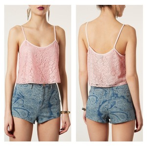 Topshop Top pink lace