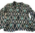 Tory Burch Top black, navy, turquoise, white