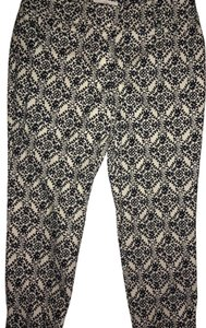 Ann Taylor LOFT The Riviera Marisa Fit Marisa Riviera Capri/Cropped Pants Black and White
