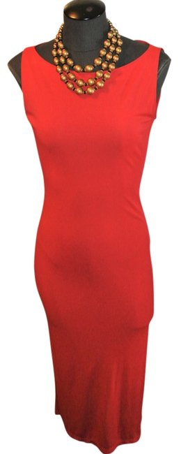 Item - Red Made In Italy Long Formal Dress Size 4 (S)